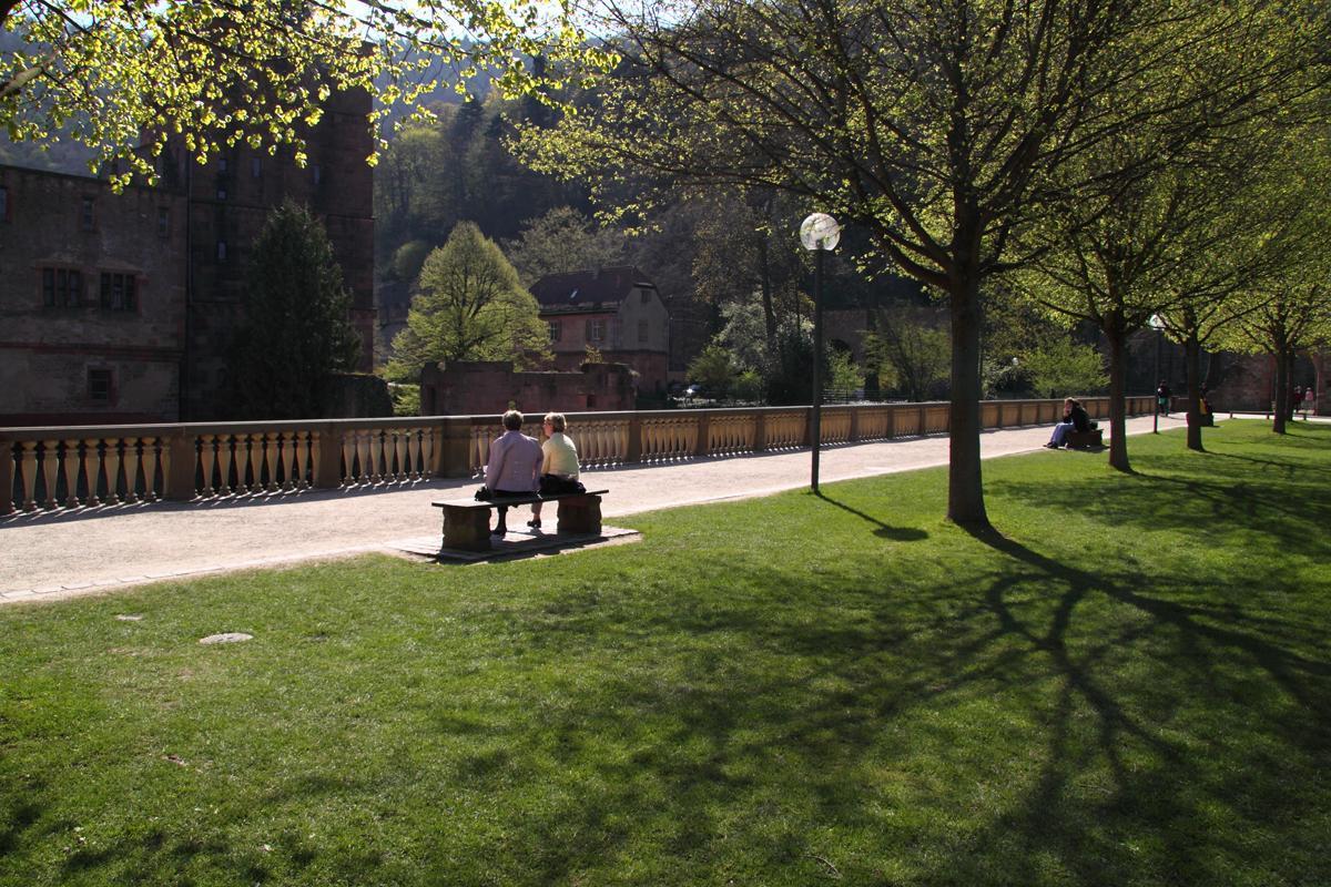 Stückgarten von Schloss Heidelberg; Foto: Staatliche Schlösser und Gärten Baden-Württemberg, Julia Haseloff