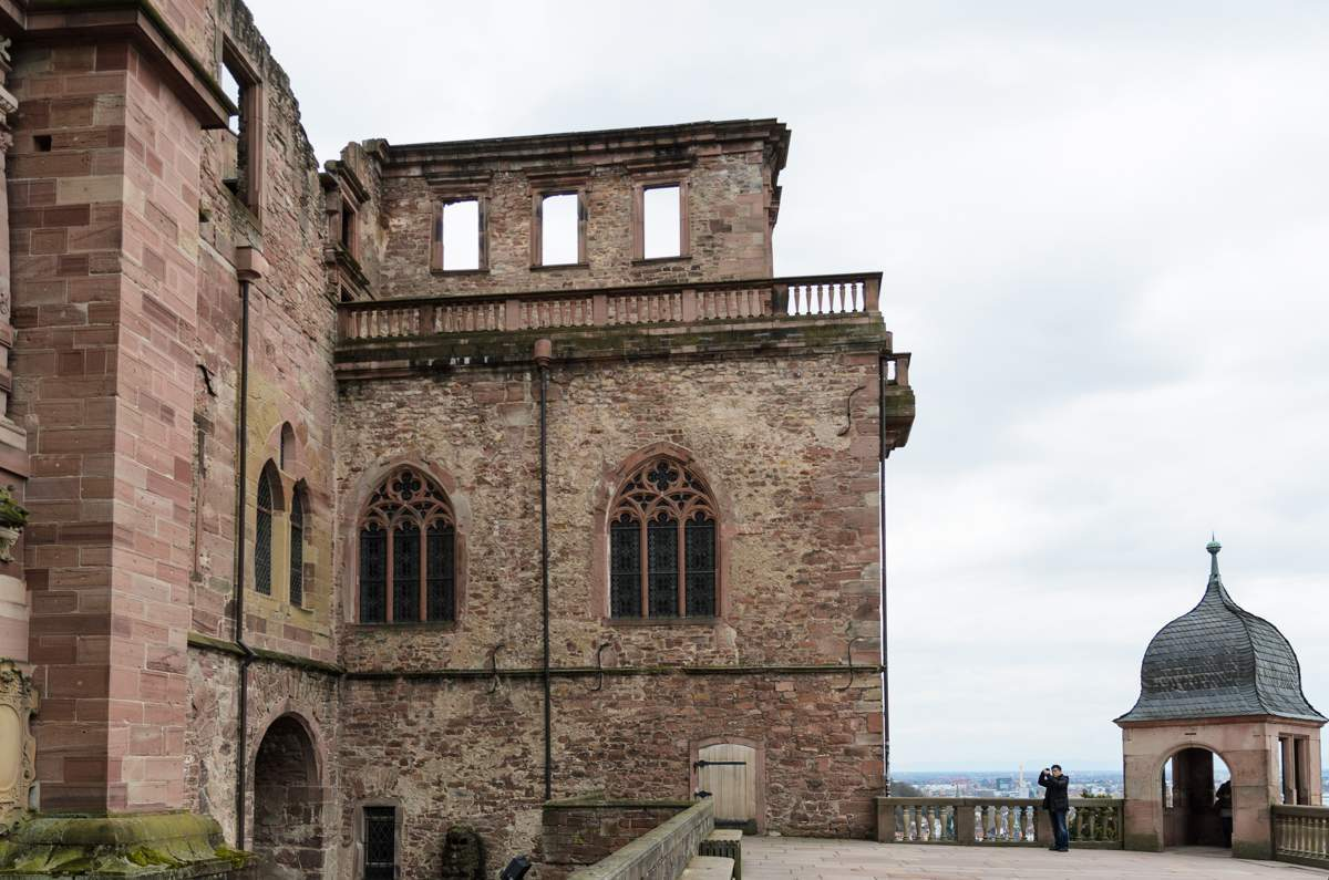 View of the Barrel Building at Heidelberg Palace. Image: Staatliche Schlösser und Gärten Baden-Württemberg, Julia Haseloff