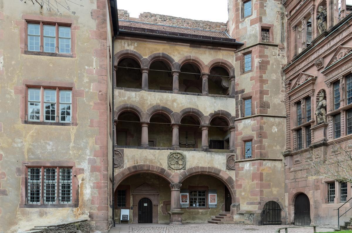 Detail des Gläsernen Saalbaus von Schloss Heidelberg