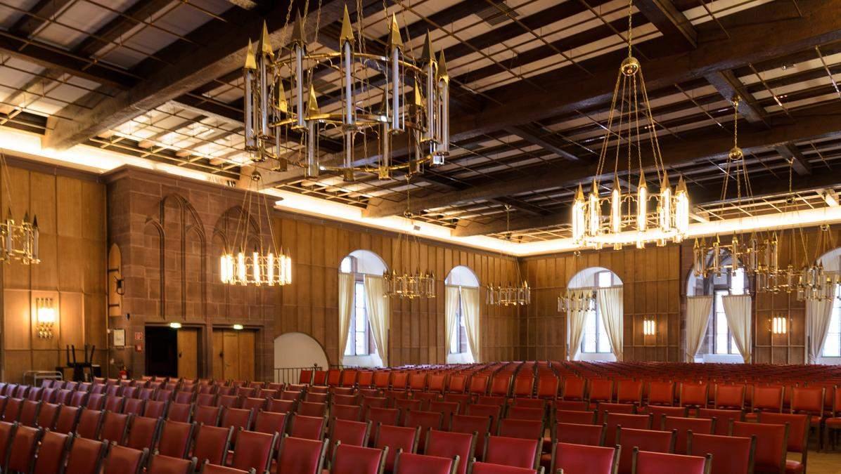 Innenansicht der Königssaals im Frauenzimmerbau von Schloss Heidelberg; Foto: Staatliche Schlösser und Gärten Baden-Württemberg, Julia Haseloff