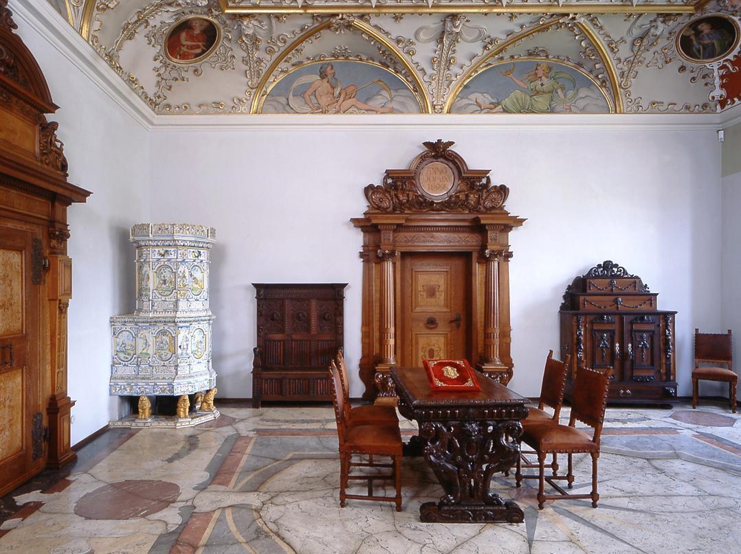 Ansicht eines Raums im Friedrichsbau von Schloss Heidelberg; Foto: Staatliche Schlösser und Gärten Baden-Württemberg, Arnim Weischer