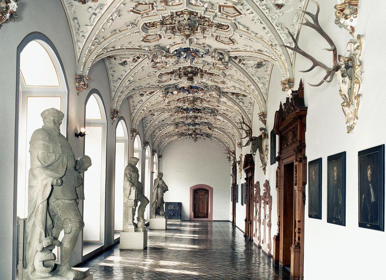 Ansicht des Flurs im Friedrichsbau von Schloss Heidelberg; Foto: Staatliche Schlösser und Gärten Baden-Württemberg, Andrea Rachele