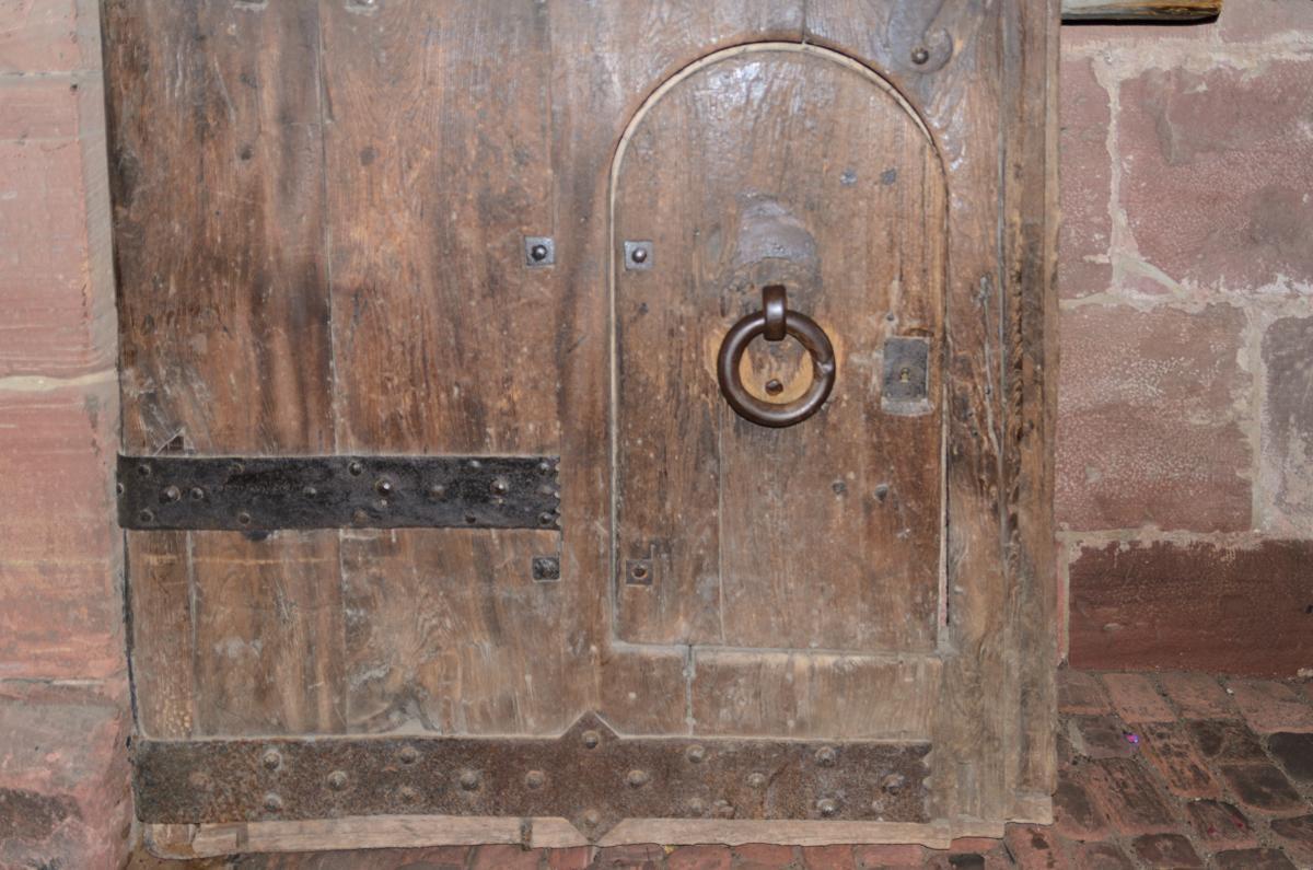 Der Eisenring am Torturm von Schloss Heidelberg