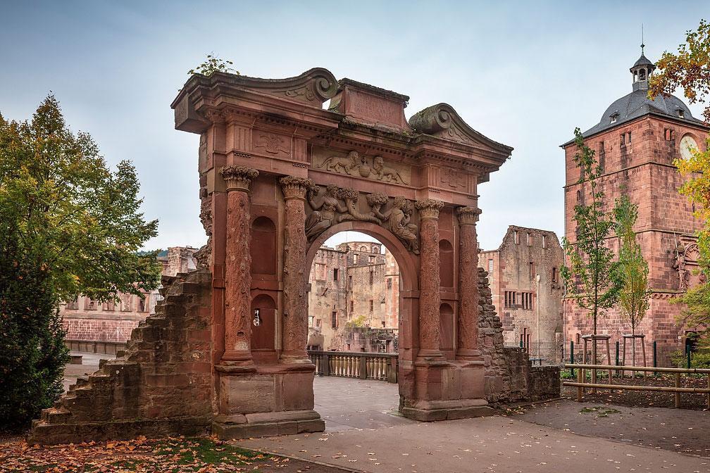 Elizabeth Gate at Heidelberg Palace. Image: Staatliche Schlösser und Gärten Baden-Württemberg, Günther Bayerl