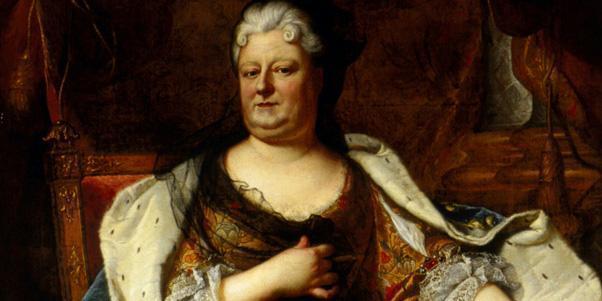 Liselotte von der Pfalz in einem Gemälde von Hyacyinthe Rigaud oder seiner Werkstatt, um 1713; Foto: Staatliche Schlösser und Gärten Baden-Württemberg, Andrea Rachele