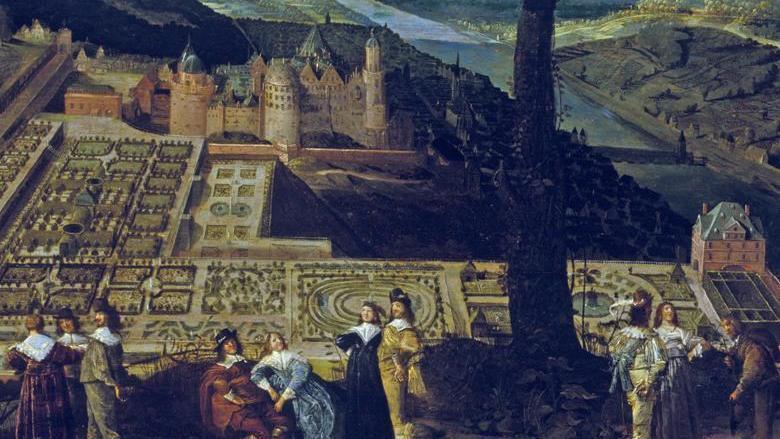 Schloss Heidelberg. Gemälde des Hortus Palatinus; Foto: Staatliche Schlösser und Gärten Baden-Württemberg, Andrea Rachele