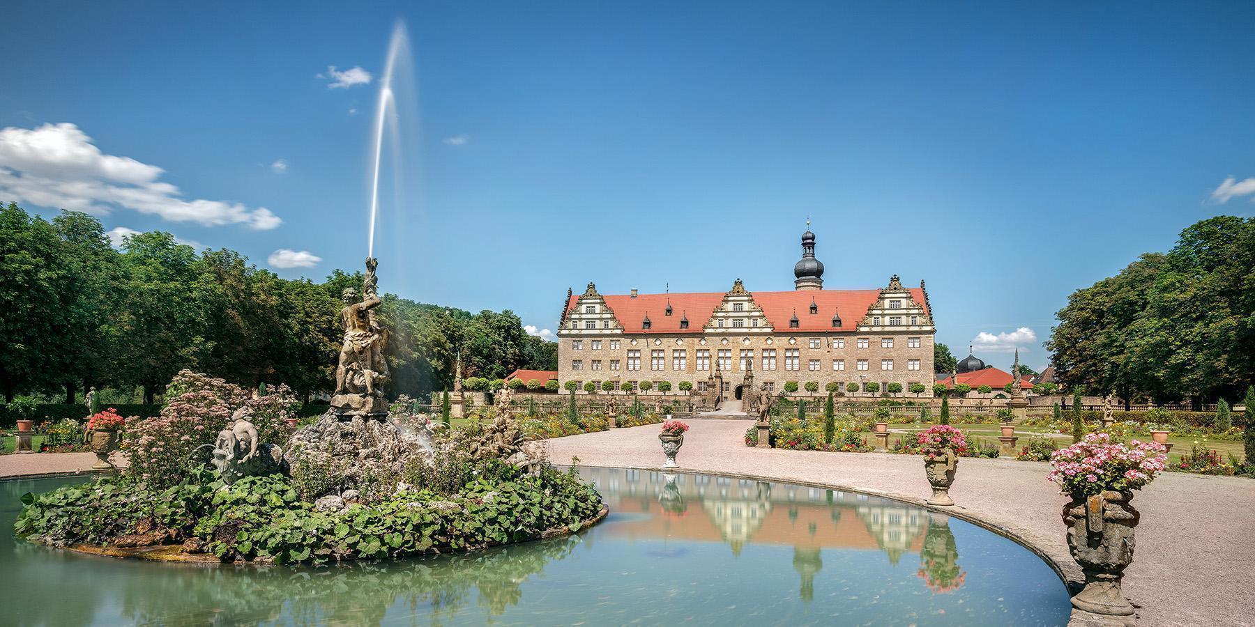 Schloss Weikersheim, Außenansicht; Foto: Staatliche Schlösser und Gärten Baden-Württemberg, Günther Bayerl