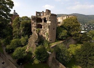 Ansicht des Krautturms von Schloss Heidelberg