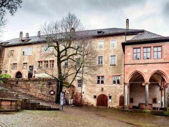 Schloss Heidelberg, Ausßenansicht Ökonomietrakt