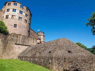 Schloss Heidelberg, östliche Wehranlagen