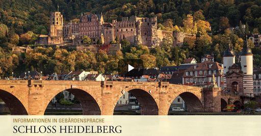 """Startbildschirm des Filmes """"Schloss Heidelberg: Informationen in Gebärdensprache"""""""