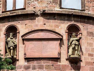 Schloss Heidelberg, Inschrift am dicken Turm