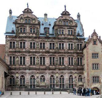 Ansicht des Friedrichsbaus von Schloss Heidelberg