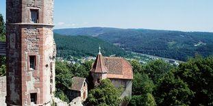 Burgfeste Dilsberg mit Kommandantenhaus