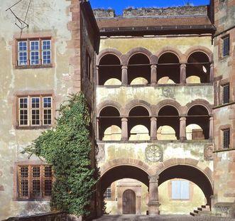 Arkadengänge am Gläsernen Saalbau von Schloss Heidelberg; Foto: Staatliche Schlösser und Gärten Baden-Württemberg, Arnim Weischer