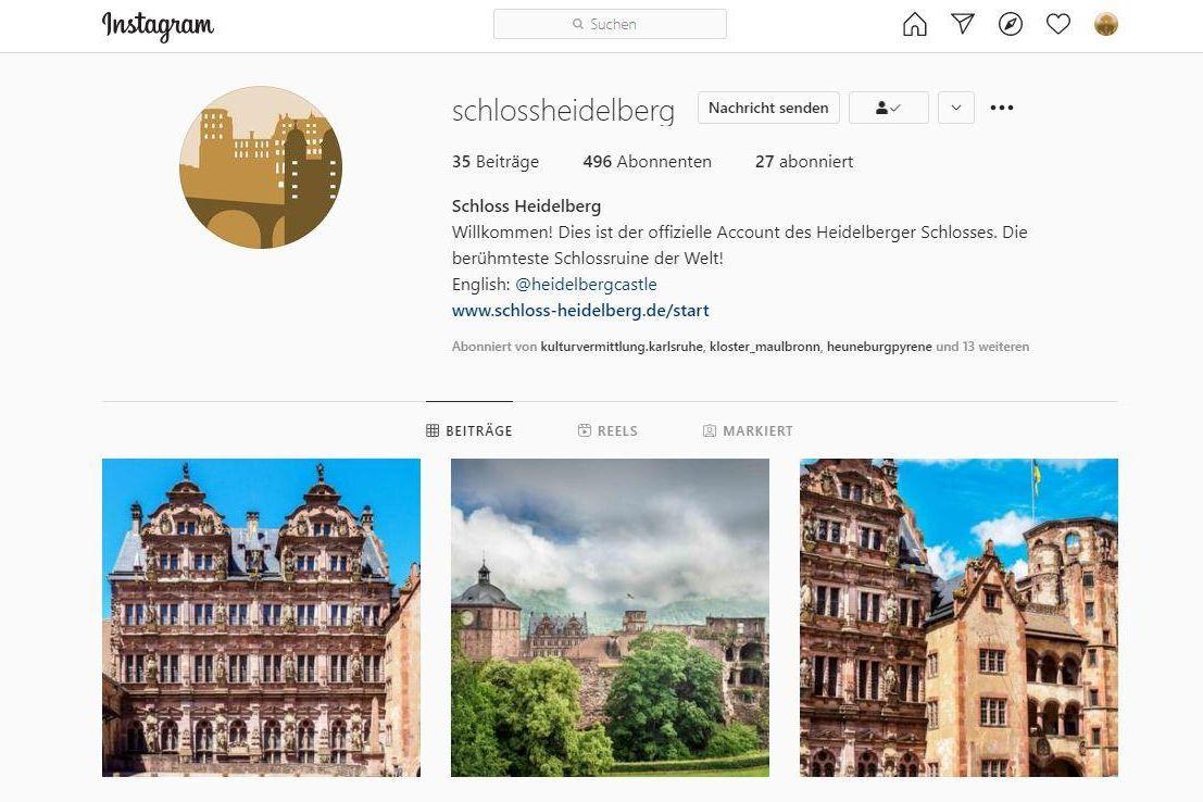 Schloss Heidelberg, Instagramseite