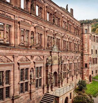 Der Ottheinrichsbau in Schloss Heidelberg