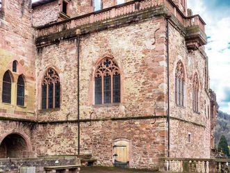 Schloss Heidelberg, Fassbau an der Neckarseite