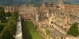Image: View of the casemates at Heidelberg Palace