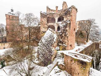 Schloss Heidelberg, gesprengter Turm