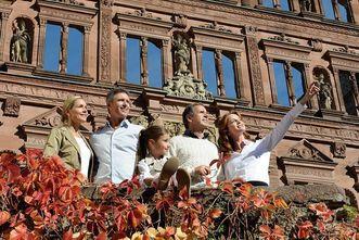 Visitors at Heidelberg Palace