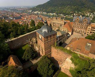 Aerial view of Heidelberg Palace. Image: Staatliche Schlösser und Gärten Baden-Württemberg, Achim Mende