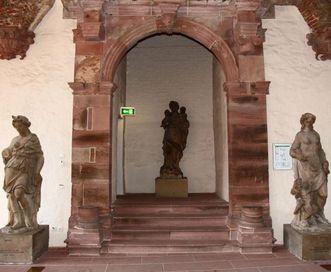 Portal im Kaisersaal im Ottheinrichsbau von Schloss Heidelberg