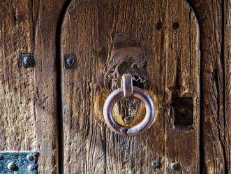 Schloss Heidelberg, Detailansicht Tür