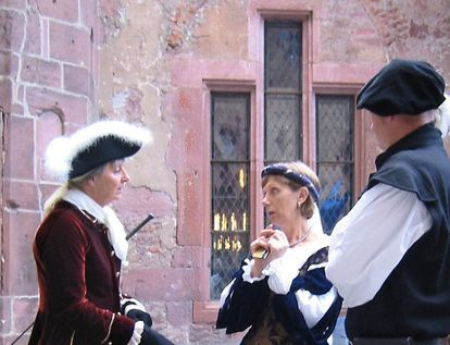 Tour guide at Heidelberg Palace. Image: Heidelberg Palace Service Center