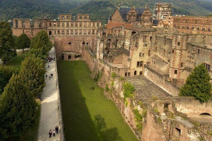 Vue des casemates du château de Heidelberg