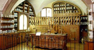 Vue intérieure du musée allemand de la Pharmacie