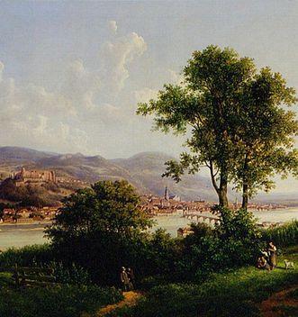 Heidelberg Palace in a painting by Otto Georgi, 1863. Image: Staatliche Schlösser und Gärten Baden-Württemberg, Arnim Weischer