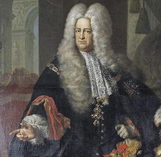 Image: Portrait of Prince-Elector Carl Philipp von der Pfalz, painting by J. Ph. van der Schlichten, 1729