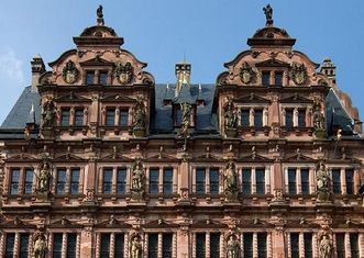 Ansicht des Friedrichsbaus von Schloss Heidelberg; Foto: Staatliche Schlösser und Gärten Baden-Württemberg, Achim Mende
