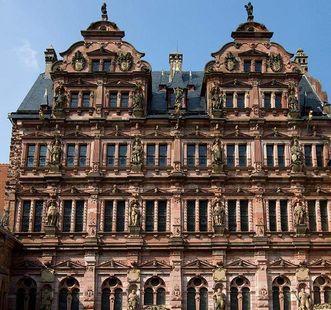 Heidelberg Palace, the façade of Friedrichsbau