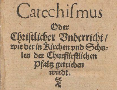 Titel des Heidelberger Katechismus von 1563