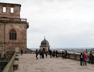 Great Terrace on the Friedrich Building at Heidelberg Palace. Image: Staatliche Schlösser und Gärten Baden-Württemberg, Julia Haseloff