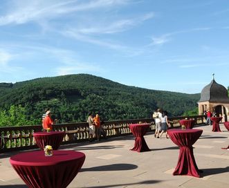 Heidelberg Palace, an event with a picturesque view; photo: Möller SchlossgastronomieA picturesque view for your event.