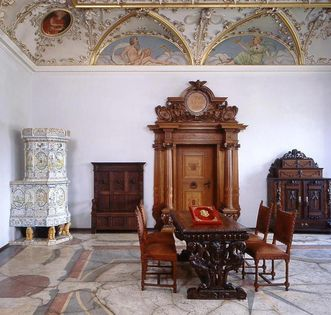 Raum im Friedrichsbau von Schloss Heidelberg; Foto: Staatliche Schlösser und Gärten Baden-Württemberg, Arnim Weischer