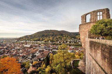 Aussicht auf die Altstadt von Heidelberg
