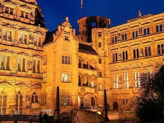 Ansicht des Gläsernen Saalbaus von Schloss Heidelberg