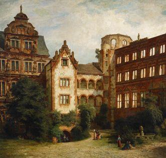 Heidelberg Palace in a painting by Karl Weysser. Image: Staatliche Schlösser und Gärten Baden-Württemberg, Andrea Rachele