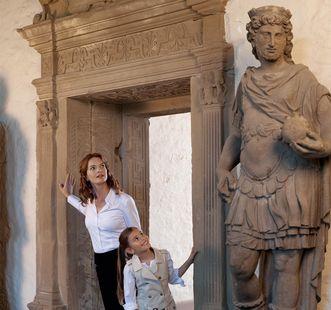Visiteurs du château de Heidelberg
