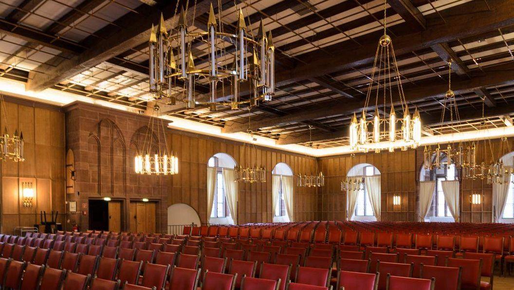 Interior of the King's Hall in the Ladies' Building at Heidelberg Palace. Image: Staatliche Schlösser und Gärten Baden-Württemberg, Julia Haseloff