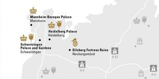 Karte der Region Kurpfalz