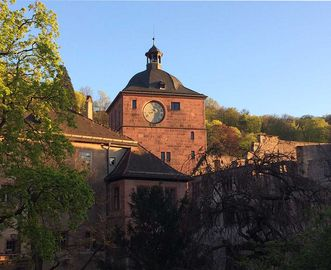 Schloss Heidelberg am Abend