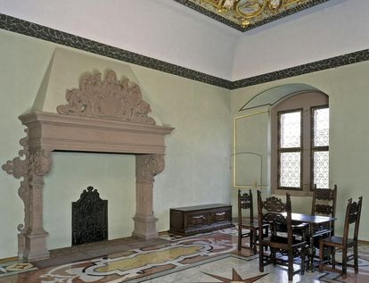 Ansicht eines Raums im Friedrichsbau von Schloss Heidelberg