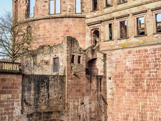 Schloss Heidelberg, Freitreppe