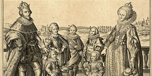 Prince-Elector Friedrich V. and Elizabeth Stuart with family