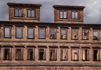 Ansicht des Englischen Baus von Schloss Heidelberg